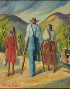 Painting by Eugene Healan Thomason. Loan from James-Farmer collection